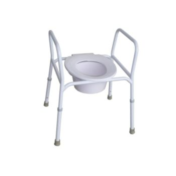Over toilet frame with handles