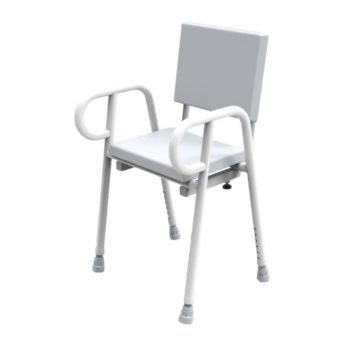 R&R Premium Shower Stool with backrest