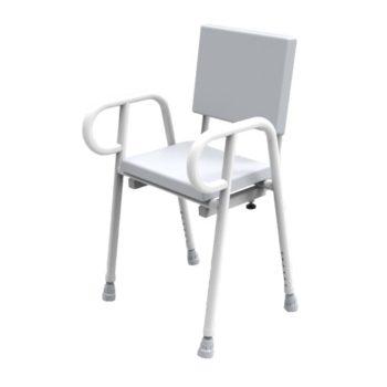 R&R Premium Shower Stool with backrest