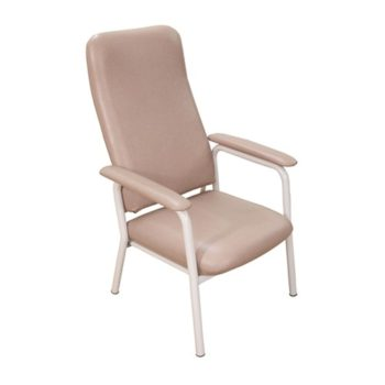 KCare Hilite highbacked chair in pale pink