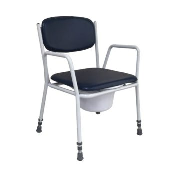 R&R commode chair with pan and over in black