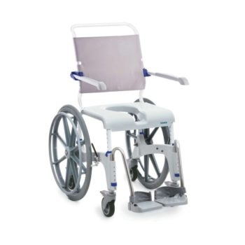 Aquatec self-propelled shower commode