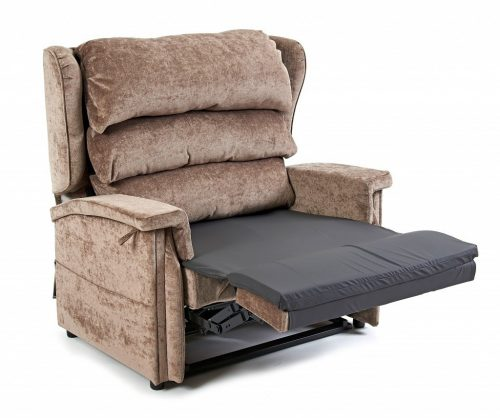 Bariatric Supa recliner chair with legrest raised