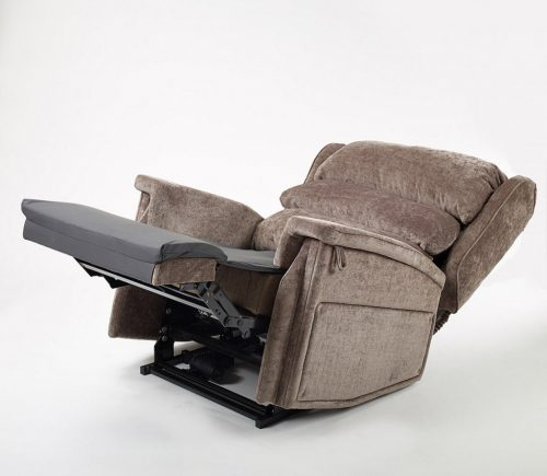 Bariatric tilt in space recliner chair in fully reclined position