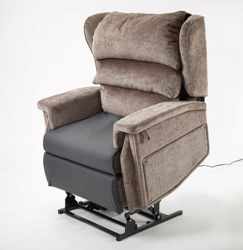 Bariatric tilt in space recliner chair in standing position