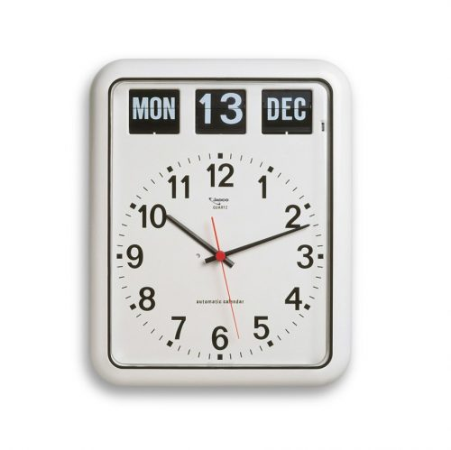 Large analogue clock with calendar