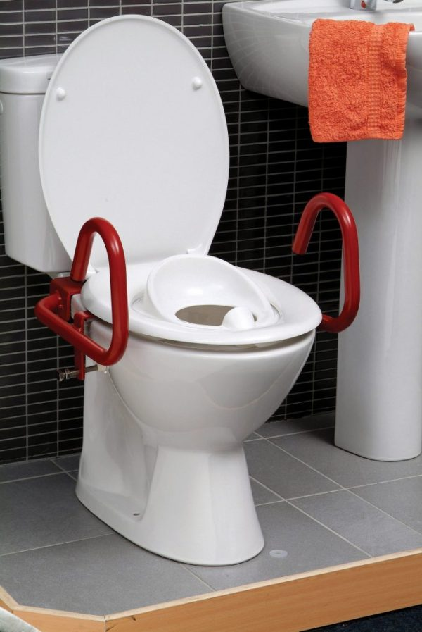 Childs rails for toilet seat