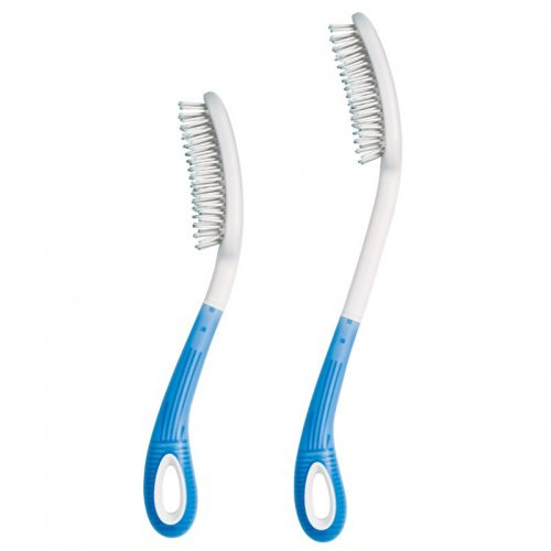 Etac Beauty Comb and Hairbrush shown in two lengths.