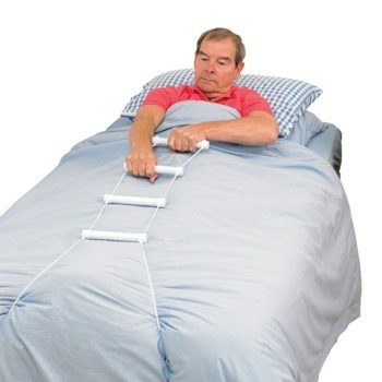 Homecraft rope ladder attached to bed base