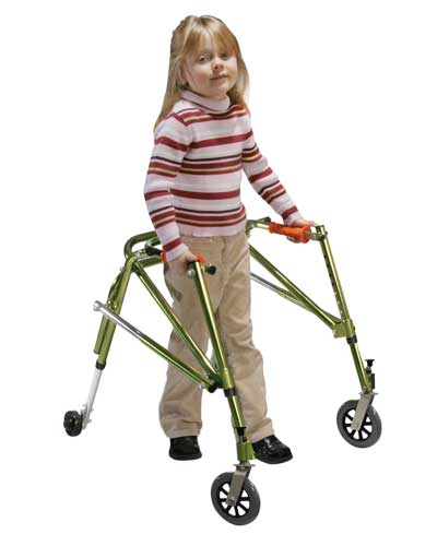 Nimbo gait trainer in lime green