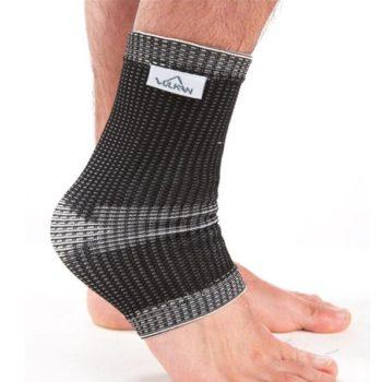 Vulkan elastic support shown in black on ankle