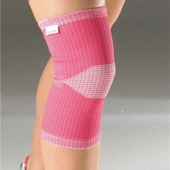 Vulkan elastic support shown in pink on knee