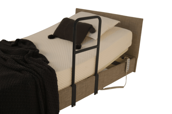high profile side rail fitted to bed base