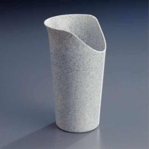 nosey cutout glass cup